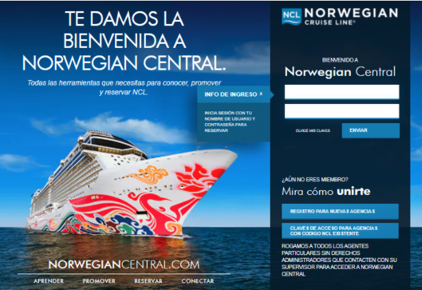 "NORWEGIAN CRUISE LINE LANZA ""NORWEGIAN CENTRAL"""
